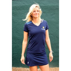 Quick Shirt Dames Navy - Senior