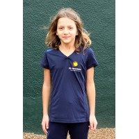 Quick Shirt Meiden Navy - Junior
