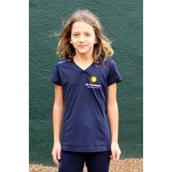 Quick Shirt Meiden Navy - Junior